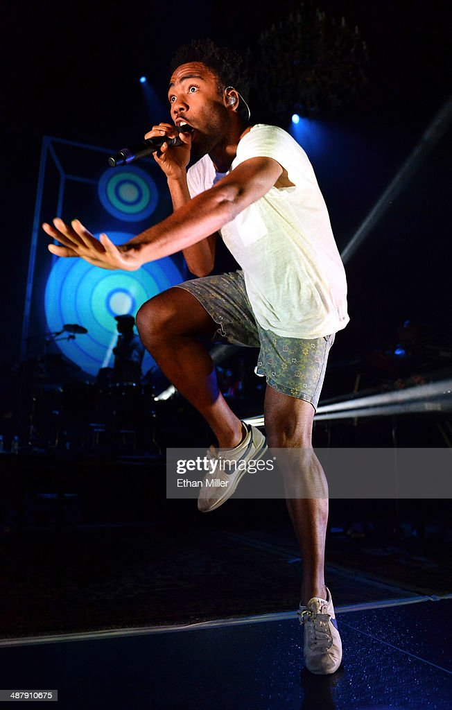 Actor/comedian Donald Glover as recording artist Childish Gambino performs at The Chelsea at The Cosmopolitan of Las Vegas during his Deep Web tour in support of the album 'because the internet' on May 2, 2014 in Las Vegas, Nevada.