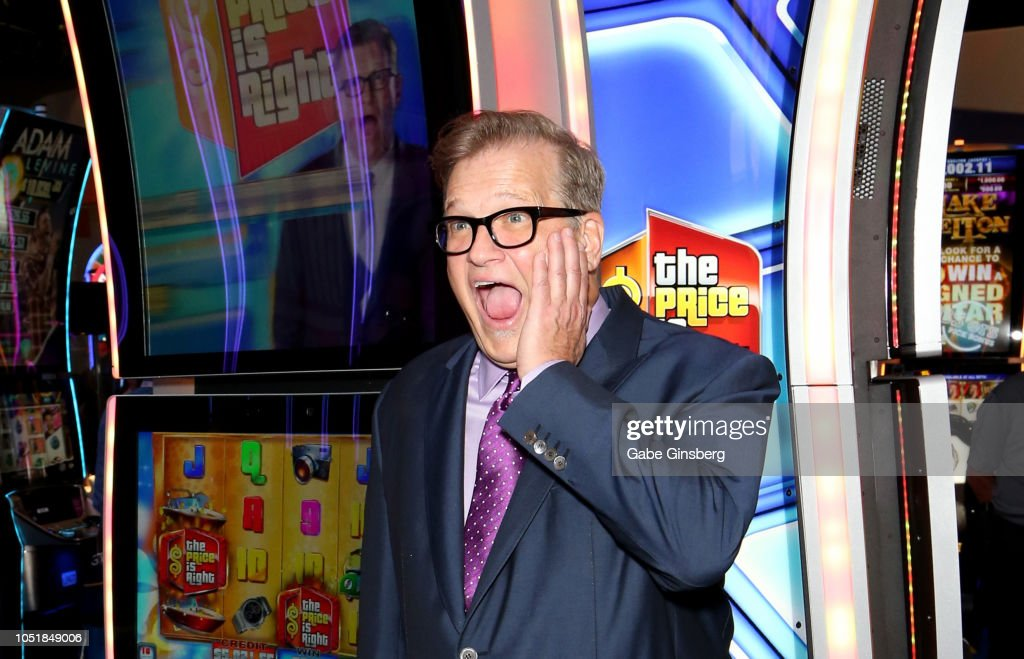 Drew Carey Hosts Plinko Games To Debut The Price Is Right Slot Machines : News Photo