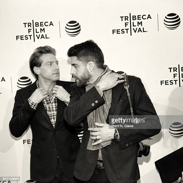 Actor/comedian Fran Kranz and actor Adam Goldberg attend the world premiere of 'Rebirth' during the 2016 Tribeca Film Festival held at the SVA...