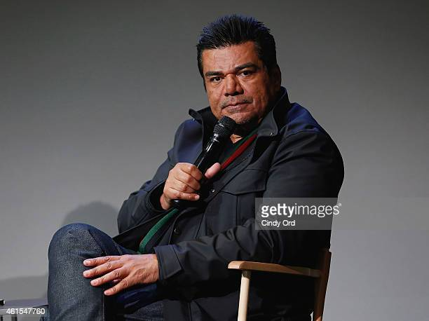 Actor/comedian George Lopez attends Meet The Filmmaker George Lopez 'Spare Parts' at the Apple Store Soho on January 14 2015 in New York City