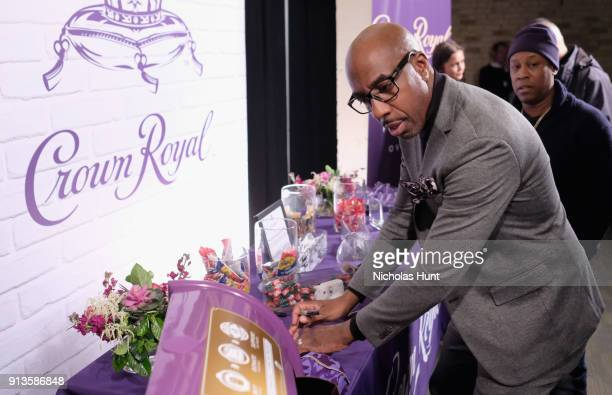 Actor/comedian J B Smoove packs a Crown Royal care package during the Rolling Stone Live party on February 2 2018 in Minneapolis Minnesota