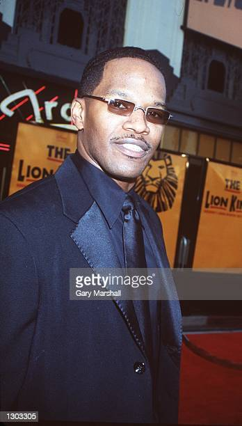 Actor/comedian Jamie Foxx arrives at Disney''s The Lion King at the Pantages Theatre October 19 2000 in Los Angeles CA
