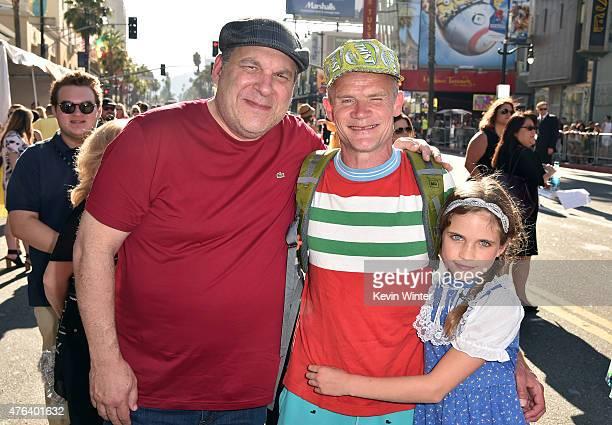 Actor/comedian Jeff Garlin actor/musician Flea and Sunny Bebop Balzary attends the Los Angeles premiere of DisneyPixar's 'Inside Out' at the El...