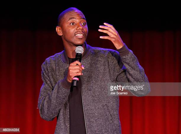 Actor/comedian Jerrod Carmichael speaks onstage at Variety's 5th annual Power of Comedy presented by TBS benefiting the Noreen Fraser Foundation at...