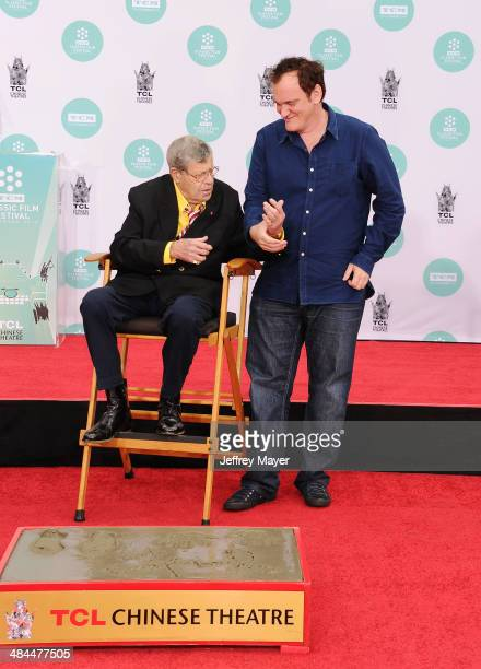 Actor/comedian Jerry Lewis and director Quentin Tarantino attend the 2014 TCM Classic Film Festival - Jerry Lewis Hand And Footprint Ceremony at TCL...