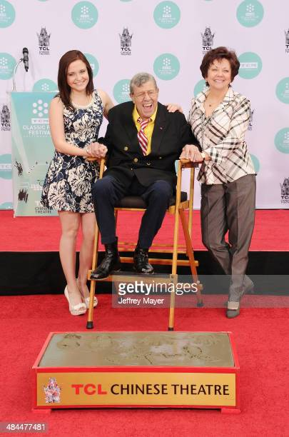 Actor/comedian Jerry Lewis daughter Danielle Sarah Lewis and wife actress SanDee Pitnick attend the 2014 TCM Classic Film Festival Jerry Lewis Hand...
