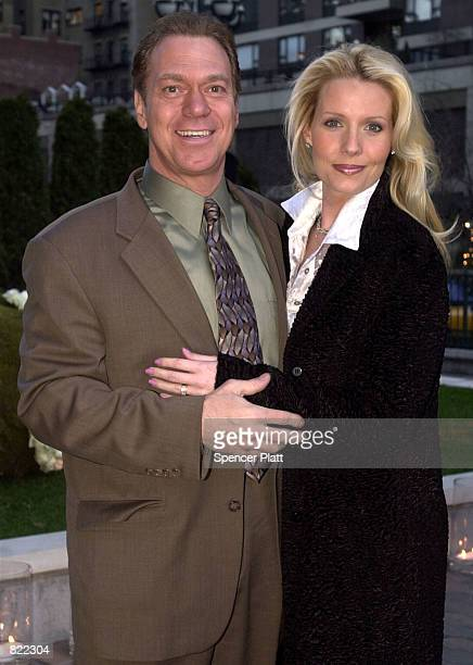 Actor/comedian Joe Piscopo and his wife Kimberly arrive at Comedy Central's 10th Anniversary party April 4 2001 in New York City