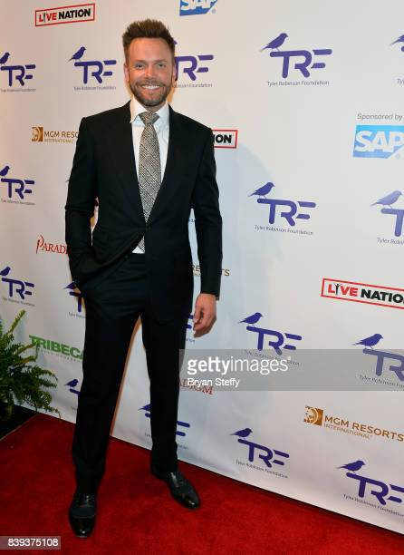 Actor/comedian Joel McHale arrives at the Tyler Robinson Foundation's 4th annual 'Believer Gala' at Caesars Palace on August 25 2017 in Las Vegas...