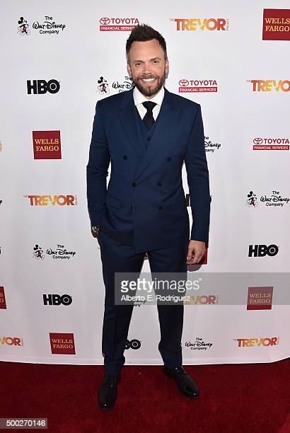 Actor/comedian Joel McHale attends TrevorLIVE LA 2015 at Hollywood Palladium on December 6 2015 in Los Angeles California
