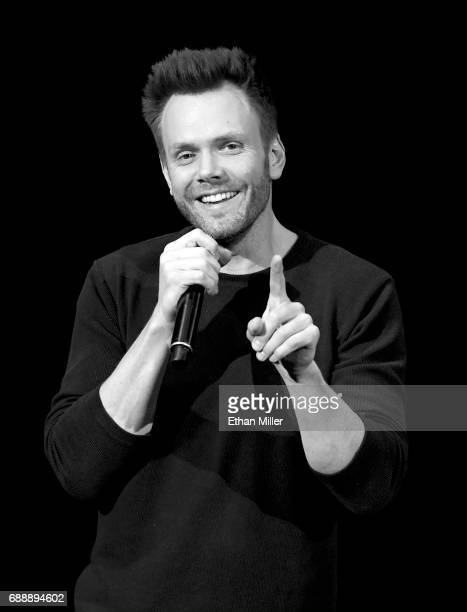 Actor/comedian Joel McHale performs his standup comedy routine at the Treasure Island Hotel Casino on May 26 2017 in Las Vegas Nevada