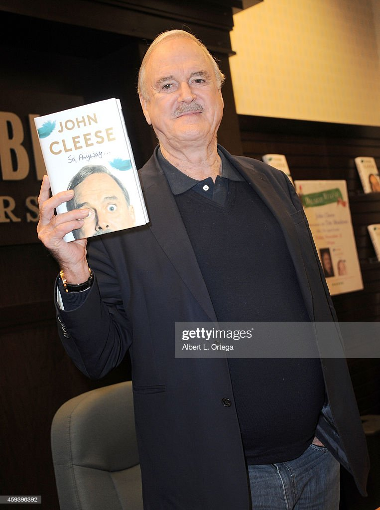Actor/comedian John Cleese Signs and does a Q&A For 'So, Anyway...' held at Barnes & Noble bookstore at The Grove on November 21, 2014 in Los Angeles, California.