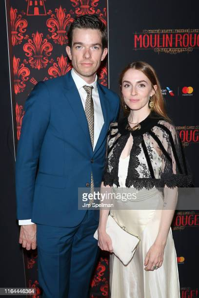 Actor/comedian John Mulaney and Annamarie Tendler attend the Moulin Rouge The Musical opening night at Al Hirschfeld Theatre on July 25 2019 in New...