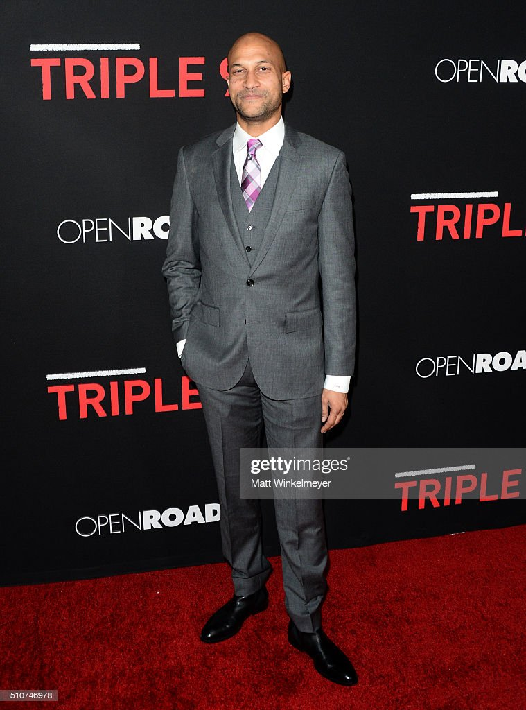 Actor/Comedian Keegan-Michael Key attends the premiere of Open Road's 'Triple 9' at Regal Cinemas L.A. Live on February 16, 2016 in Los Angeles, California.