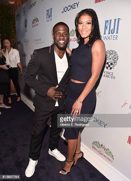 Actor/comedian Kevin Hart and Eniko Parrish attend MEN'S FITNESS Celebrates the 2016 GAME CHANGERS at Sunset Tower Hotel on October 10 2016 in West...