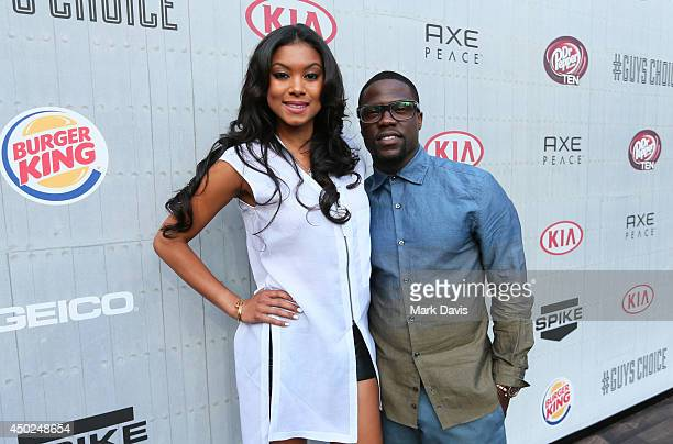 Actor/comedian Kevin Hart and Eniko Parrish attend Spike TV's Guys Choice 2014 at Sony Pictures Studios on June 7 2014 in Culver City California