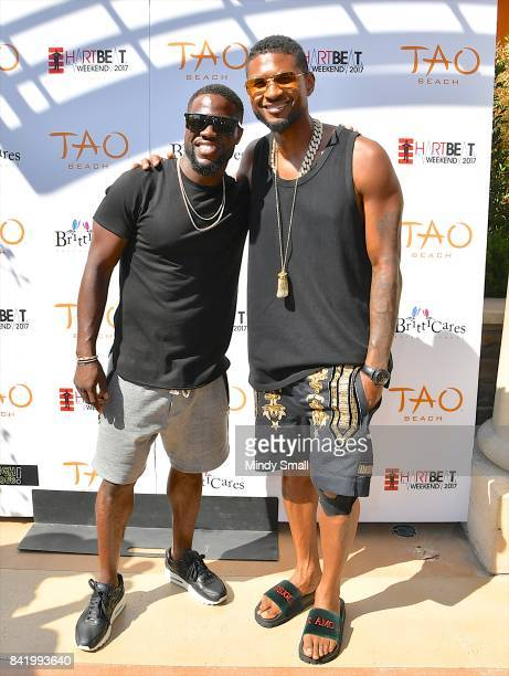 Actor/comedian Kevin Hart and recording artist Usher attend the HartBeat weekend pool party at Tao Beach at The Venetian Las Vegas on September 2...