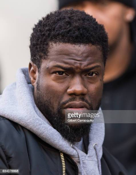 Actor/comedian Kevin Hart is seen on set of 'Untouchable' on February 6 2017 in Philadelphia Pennsylvania