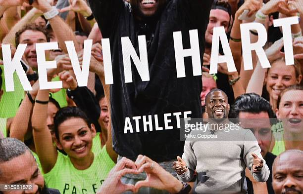 Actor/comedian Kevin Hart speaks during the Nike Innovation For Everybody Unveiling at Skylight at Moynihan Station on March 16 2016 in New York City