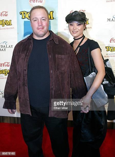 Actor/comedian Kevin James and his girlfriend model Steffiana De La Cruz arrive at the Tiger Jam V benefit at the Mandalay Bay Events Center April 20...