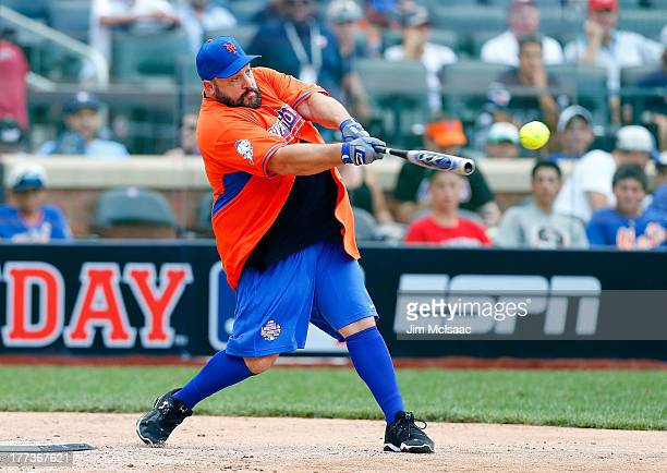 Actor/comedian Kevin James during the Taco Bell All-Star Legends & Celebrity Softball Game at Citi Field on July 14, 2013 in the Flushing...