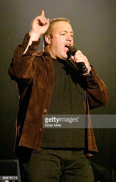 Actor/comedian Kevin James performs at the Tiger Jam V benefit at the Mandalay Bay Events Center April 20 2002 in Las Vegas Nevada The event put on...