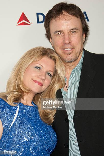Actor/comedian Kevin Nealon and wife pose on the red carpet at Scleroderma Research Foundation's Cool Comedy Hot Cuisine at Regent Beverly Wilshire...