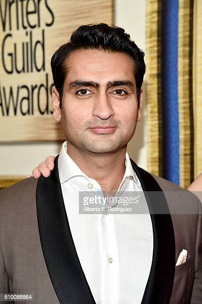 Actor/comedian Kumail Nanjiani attends the 2016 Writers Guild Awards at the Hyatt Regency Century Plaza on February 13 2016 in Los Angeles California
