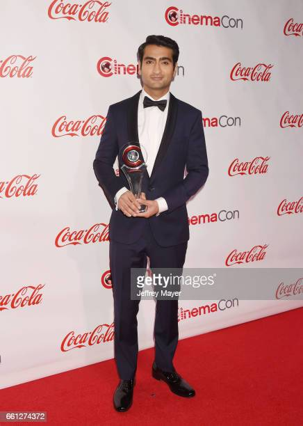 Actor/comedian Kumail Nanjiani attends the CinemaCon Big Screen Achievement Awards at Omnia Nightclub at Caesars Palace during CinemaCon, the...