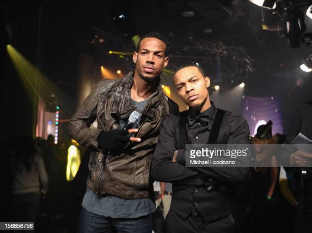Actor/Comedian Marlon Wayans and Rapper Bow Wow host BET's 106 And Park 2013 New Years Eve Party at BET Studios on December 17 2012 in New York City