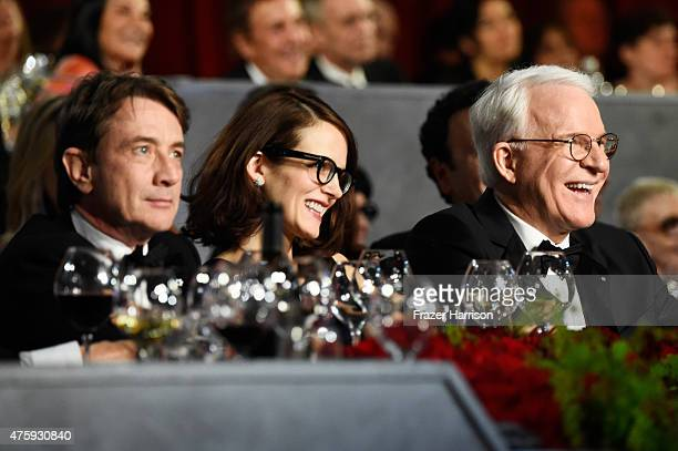 Actor/Comedian Martin Short Anne Stringfield and Honoree Steve Martin attend the 43rd AFI Life Achievement Award Gala honoring Steve Martin at Dolby...