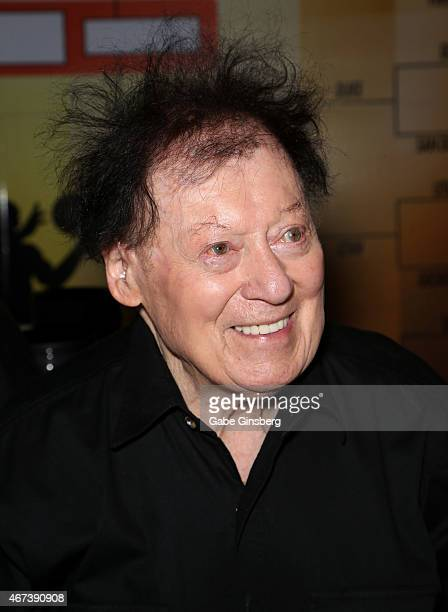 Actor/comedian Marty Allen attends a meet and greet after his performance at the Downtown Grand Hotel Casino on March 23 2015 in Las Vegas Nevada