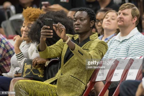 Actor/comedian Michael Blackson during a BIG3 Basketball league game on July 16 2017 at Wells Fargo Center in Philadelphia PA