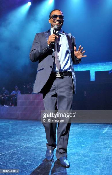 Actor/comedian Mike Epps performs in the Imagine That concert at Gibson Amphitheatre on November 3 2010 in Universal City California