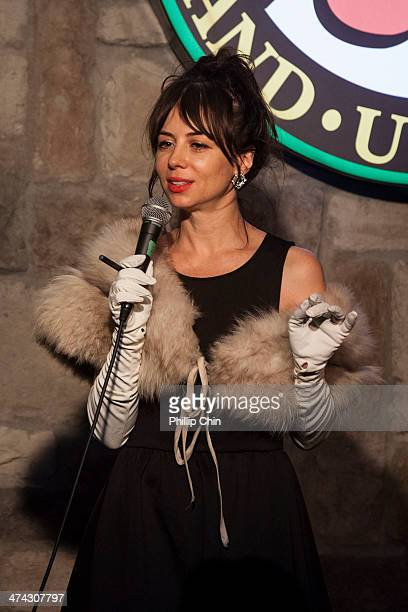 Actor/comedian Natasha Leggero performs at Yuk Yuk's Vancouver during the NorthWest Comedy Fest on February 15 2014 in Vancouver Canada