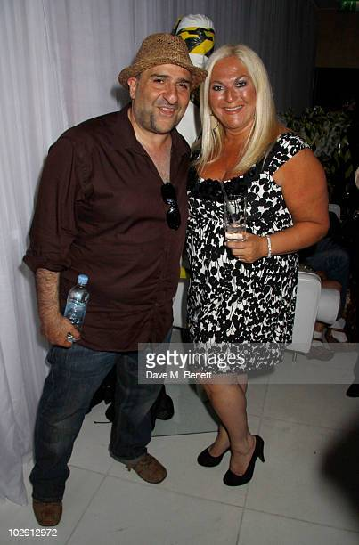 Actor/comedian Omid Djalili and TV personality Vanessa Feltz attend the Ghost Stories Press Night Party held on July 14, 2010 at the St Martins Lane...