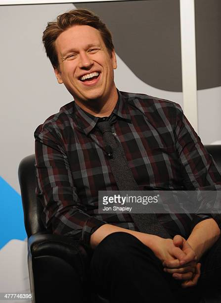 Actor/comedian Pete Holmes speaks onstage at The Pete Holmes Show Makes It Weird during the 2014 SXSW Music Film Interactive Festival at Austin...