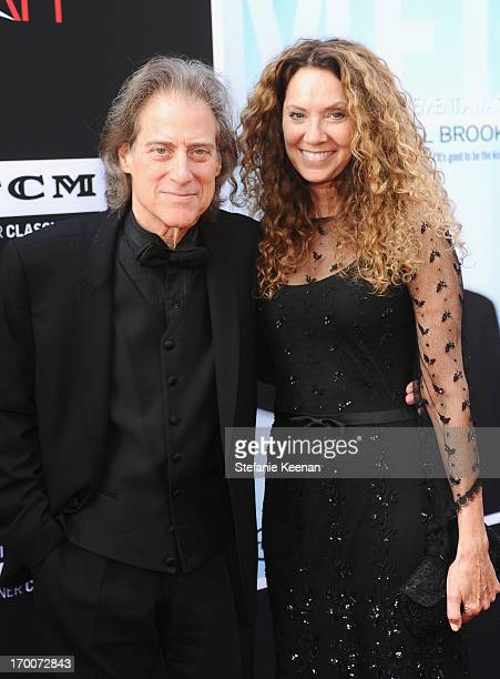 Actor/comedian Richard Lewis and producer Joyce Lapinsky attend AFI's 41st Life Achievement Award Tribute to Mel Brooks at Dolby Theatre on June 6...