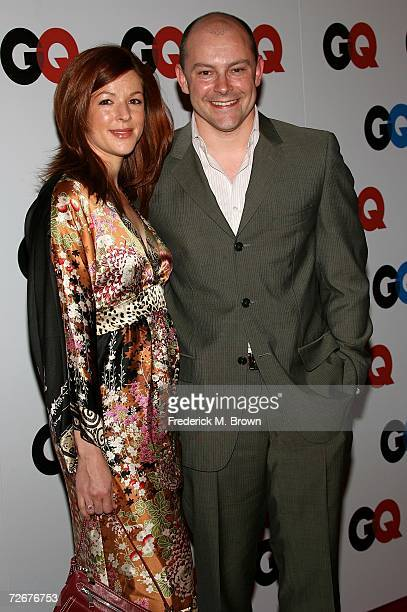 Actor/comedian Rob Corddry and wife Sandra arrive at the GQ magazine 2006 Men of the Year dinner celebrating the 11th Annual Men of the Year issue at...