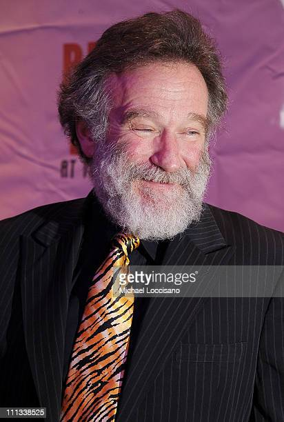 "Actor/comedian Robin Williams attends the after party for opening night of ""Bengal Tiger At The Baghdad Zoo"" at Espace on March 31, 2011 in New York..."