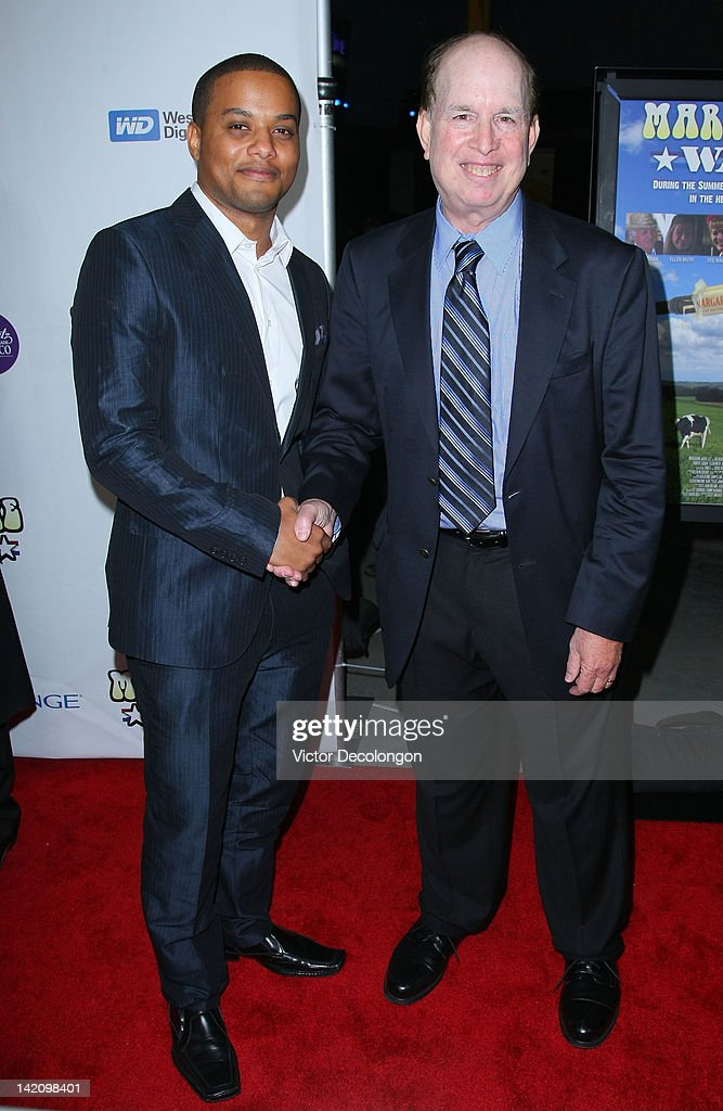 Actor/comedian Ron G and writer/director David Rich arrive for the premiere of 'Margarine Wars' at ArcLight Hollywood on March 29, 2012 in Hollywood, California.