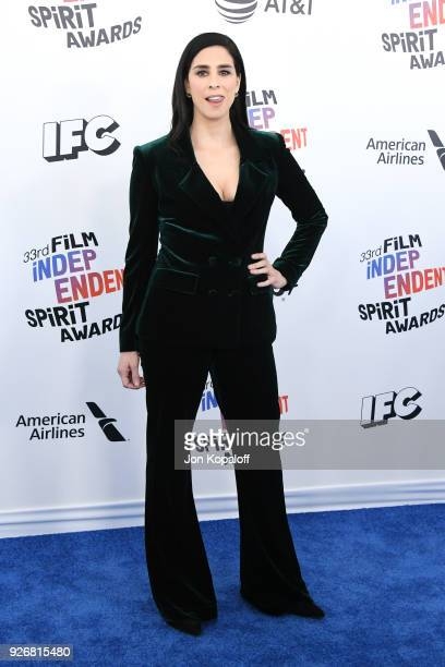 Actorcomedian Sarah Silverman attends the 2018 Film Independent Spirit Awards on March 3 2018 in Santa Monica California