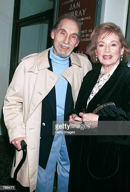 Actor/comedian Sid Caesar and his wife Florence Levy attend a tribute to actor/comedian Jan Murray at The Friars Club of California April 6 2001 in...