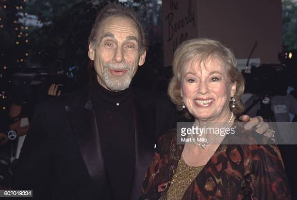 Actorcomedian Sid Caesar and his wife Florence Levy attend Milton Berle's 90th Birthday Celebration on July 12 1998 at the Beverly Hills Hotel in...