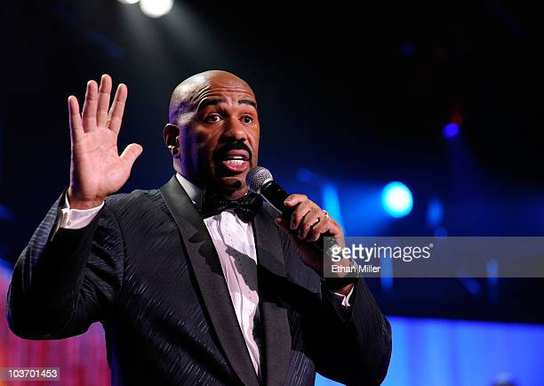 Actor/comedian Steve Harvey hosts the eighth annual Ford Hoodie Awards at the Mandalay Bay Events Center August 28, 2010 in Las Vegas, Nevada.