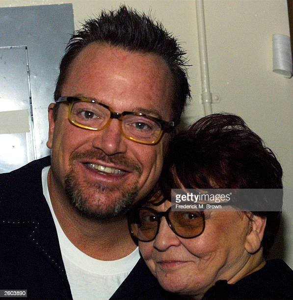 Actor/comedian Tom Arnold and Sherry Hackett attend the Fifth Annual Night of Comedy at the El Capitan Theater on October 15 2003 in Hollywood...