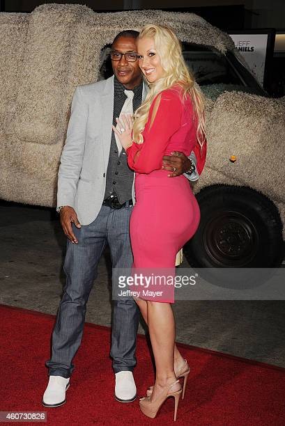 Actor/comedian Tommy Davidson Amanda Davidson arrive at the Los Angeles premiere of 'Dumb And Dumber To' at Regency Village Theatre on November 3...