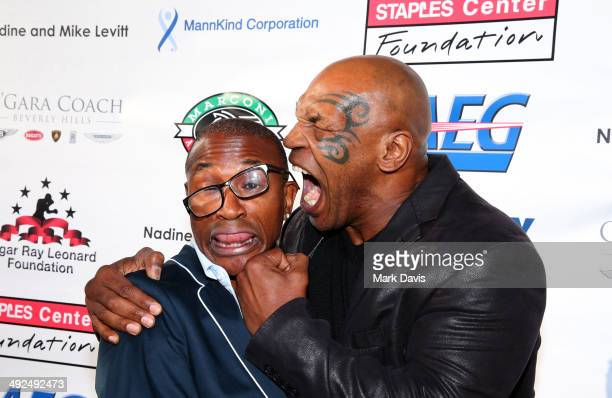 Actor/Comedian Tommy Davidson and former professional boxer Mike Tyson attend the B Riley Co and Sugar Ray Leonard Foundation's 5th Annual Big...