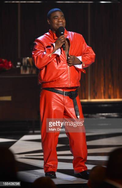 """Actor/comedian Tracy Morgan speaks onstage at Spike TV's """"Eddie Murphy: One Night Only"""" at the Saban Theatre on November 3, 2012 in Beverly Hills,..."""