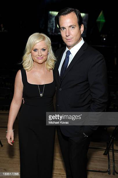 Actor/Comedians Amy Poehler and Will Arnett pose in the VIP Lounge at Variety's Power of Comedy Presented By The Sims 3 Benefiting The Noreen Fraser...