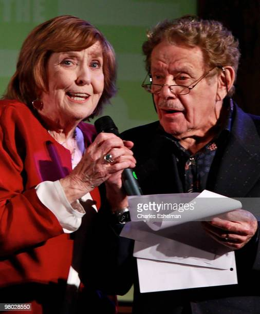 Actor/comedians Anne Meara and Jerry Stiller attend the George Carlin tribute at The New York Public Library on March 24, 2010 in New York, New York.